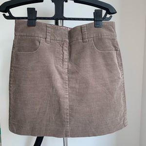 J crew mini skirt size 2